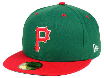 Pittsburgh Pirates New Era MLB Green Red 59FIFTY Cap