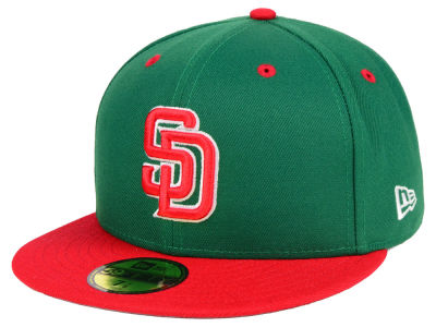 San Diego Padres New Era MLB Green Red 59FIFTY Cap
