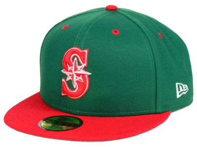 Seattle Mariners New Era MLB Green Red 59FIFTY Cap