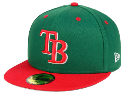 Tampa Bay Rays New Era MLB Green Red 59FIFTY Cap