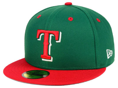 Texas Rangers New Era MLB Green Red 59FIFTY Cap