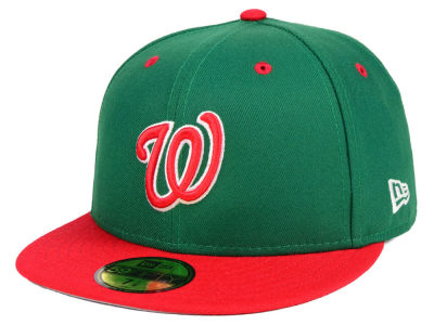 Washington Nationals New Era MLB Green Red 59FIFTY Cap
