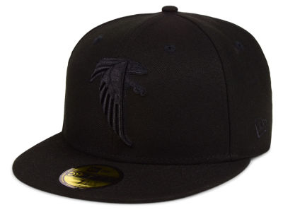 Atlanta Falcons New Era NFL Black on Black 59FIFTY Cap