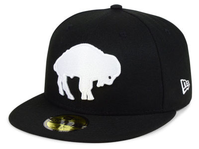 Buffalo Bills New Era NFL Black And White 59FIFTY Cap