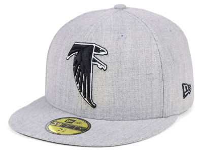 Atlanta Falcons New Era NFL Heather Black White 59FIFTY Cap