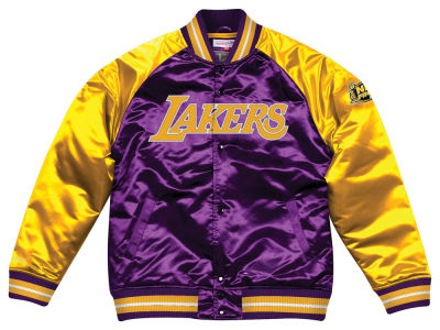 Los Angeles Lakers Mitchell & Ness NBA Men's Tough Season Satin Jacket