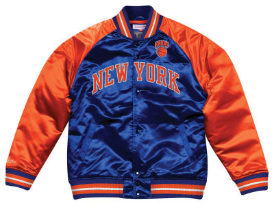 New York Knicks Mitchell & Ness NBA Men's Tough Season Satin Jacket