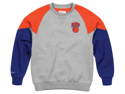 New York Knicks Mitchell & Ness NBA Men's Trading Block Crew Sweatshirt