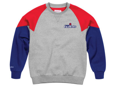 Washington Bullets Mitchell & Ness NBA Men's Trading Block Crew Sweatshirt