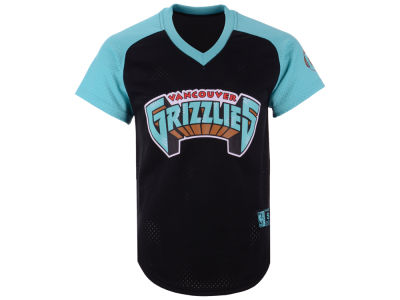 Vancouver Grizzlies Mitchell & Ness NBA Men's Final Seconds Mesh V-Neck Jersey