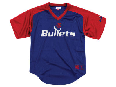 Washington Bullets Mitchell & Ness NBA Men's Final Seconds Mesh V-Neck Jersey