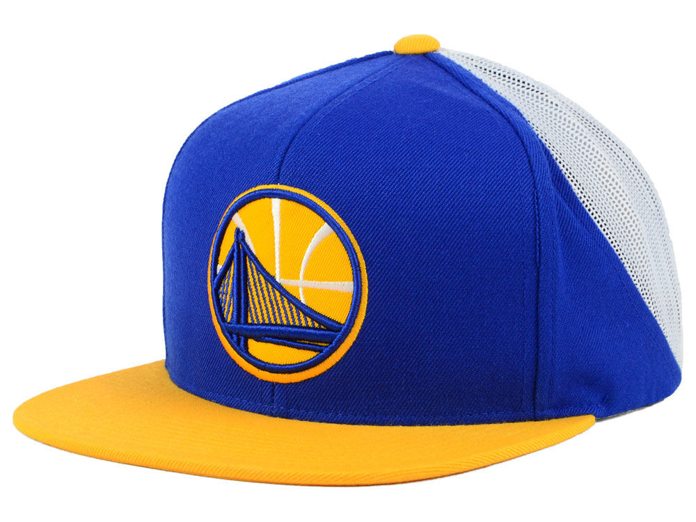 4f527259405 Golden State Warriors Mitchell   Ness NBA Curved Mesh Snapback