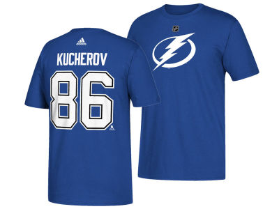 Tampa Bay Lightning Nikita Kucherov adidas NHL Men's Silver Player T-shirt