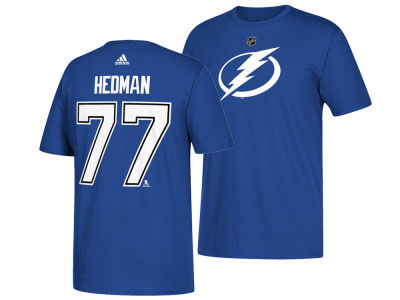 Tampa Bay Lightning Victor Hedman adidas NHL Men's Silver Player T-shirt