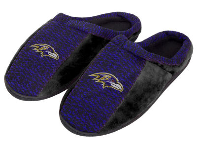 Baltimore Ravens Poly Knit Cup Sole Slippers