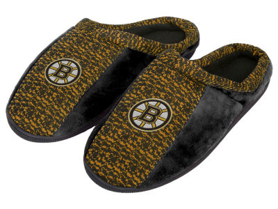 Boston Bruins Poly Knit Cup Sole Slippers
