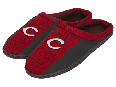 Cincinnati Reds Poly Knit Cup Sole Slippers