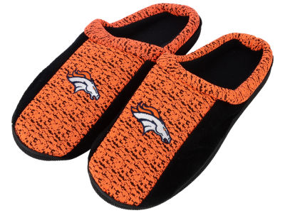 Denver Broncos Poly Knit Cup Sole Slippers