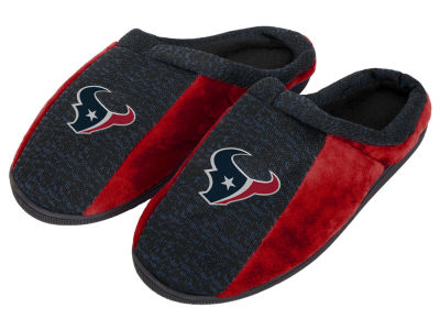 Houston Texans Poly Knit Cup Sole Slippers