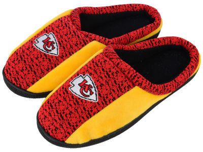 Kansas City Chiefs Poly Knit Cup Sole Slippers
