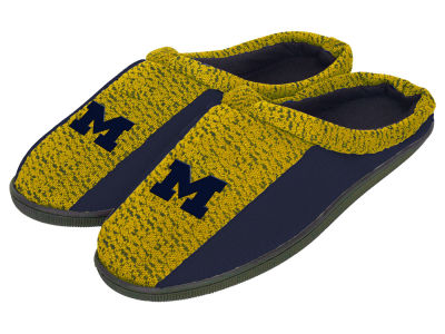 Michigan Wolverines Poly Knit Cup Sole Slippers
