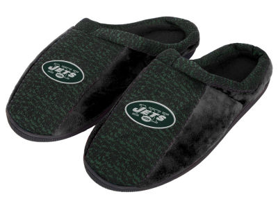 New York Jets Poly Knit Cup Sole Slippers