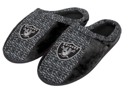 Oakland Raiders Poly Knit Cup Sole Slippers