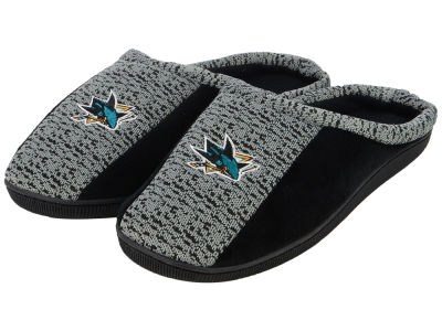 San Jose Sharks Poly Knit Cup Sole Slippers