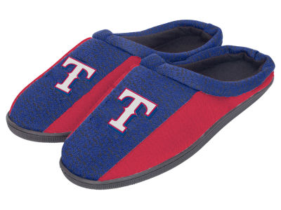 Texas Rangers Poly Knit Cup Sole Slippers