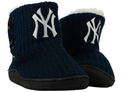 New York Yankees Women's Knit Two Button Boot
