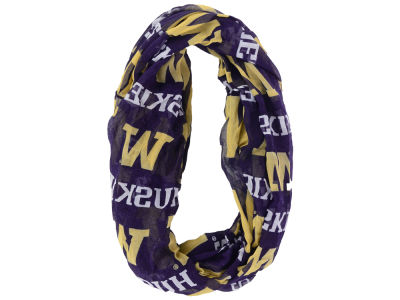 Washington Huskies Forever Collectibles All Over Logo Infinity Wrap Scarf