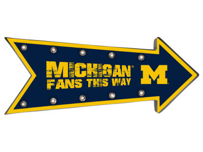 Michigan Wolverines Arrow Marquee Sign