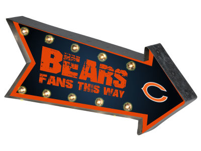 Chicago Bears Arrow Marquee Sign