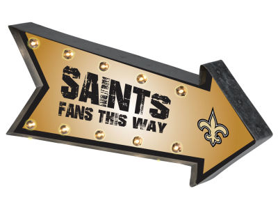 New Orleans Saints Arrow Marquee Sign