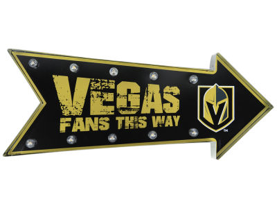 Vegas Golden Knights Arrow Marquee Sign
