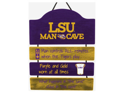 LSU Tigers ManCave Sign