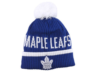 Toronto Maple Leafs NHL Iconic Stroke Cuffed Pom Knit