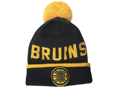 Boston Bruins NHL Iconic Stroke Cuffed Pom Knit