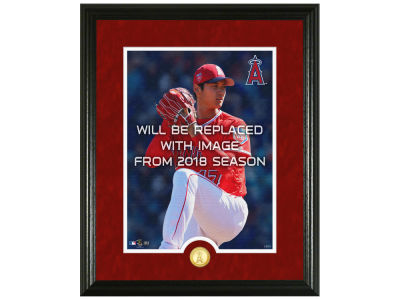 Los Angeles Angels Shohei Ohtani Highland Mint Canvas Art Bronze Coin Photo Mint