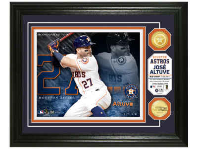Houston Astros Jose Altuve Highland Mint Bronze Coin Photo Mint