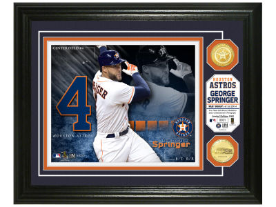 Houston Astros George Springer Highland Mint Bronze Coin Photo Mint