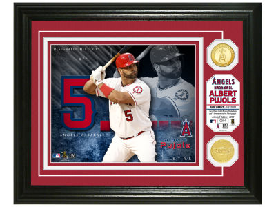 Los Angeles Angels Albert Pujols Highland Mint Bronze Coin Photo Mint