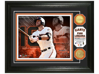 San Francisco Giants Evan Longoria  Highland Mint Bronze Coin Photo Mint