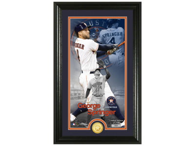 Houston Astros George Springer Highland Mint Supreme Bronze Coin Photo Mint V