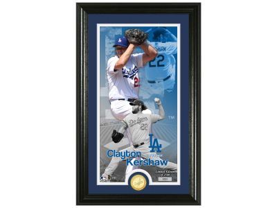 Los Angeles Dodgers Clayton Kershaw Highland Mint Supreme Bronze Coin Photo Mint V