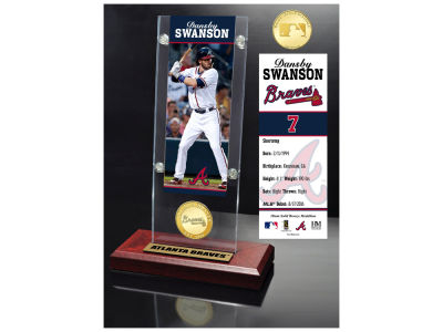 Atlanta Braves Dansby Swanson Highland Mint Ticket & Bronze Coin Acrylic Desk Top
