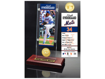 New York Mets Noah Syndergaard  Highland Mint Ticket & Bronze Coin Acrylic Desk Top