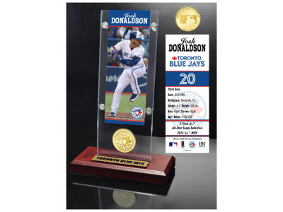 Toronto Blue Jays Josh Donaldson Highland Mint Ticket & Bronze Coin Acrylic Desk Top