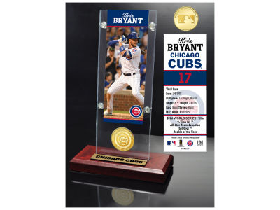 Chicago Cubs Kris Bryant Highland Mint Ticket & Bronze Coin Acrylic Desk Top