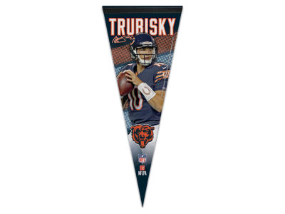 Chicago Bears Mitchell Trubisky 12x30 Premium Player Pennant